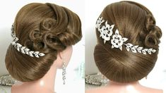 Trendy Wedding Hairstyle For Brides. Updo For Long Hair Tutorial