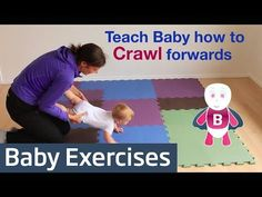 How to Teach Baby to Crawl - Baby Exercises #6-9 Months - Baby Activities, Baby Development - YouTube