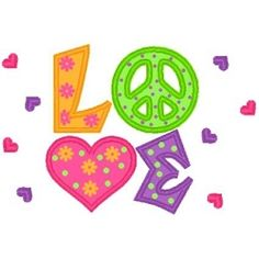 Love Peace Applique - 3 Sizes! | Words and Phrases | Machine Embroidery Designs | SWAKembroidery.com Band to Bow