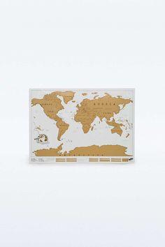 Scratch Map World Map Poster