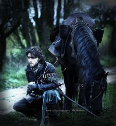 The Musketeers - Athos (+ Roger The Horse) graphic by Cathelms on Twitter