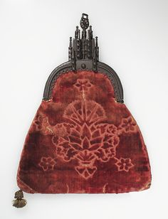 Cut-velvet purse, Northern European, late 15th C.