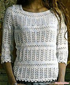. Белый ажурный джемпер - Вязание - Страна Мам Knit Crochet, Knitting, Women, Fashion, Ganchillo, Projects, Tricot, Moda, Women's