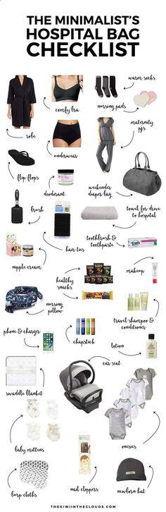 Hospital Bag Checklist | Newborn Advice | Pregnancy Tips #babyclotheschecklist