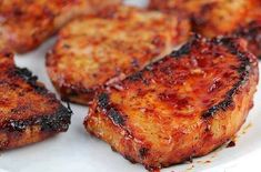 INGREDIENTS :  1 cup ketchup  1/3 cup honey  ¼ cup soy sauce  2 garlic cloves (minced)  1 1/2lbs boneless pork chops (6 4 oz portions)  s...
