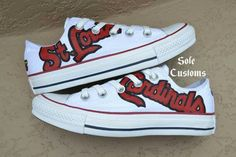 ee0b47f2f61fc3 Items similar to Custom Converse - Men s Women s St. Louis Cardinals Shoes  on Etsy