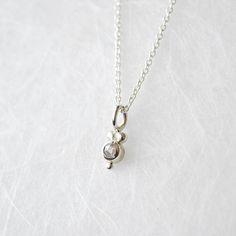 Hellgraue Diamantrose Fassung aus 925 Sterling Silber