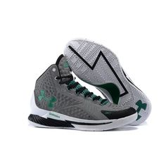 a23f9824c26 UA Curry 1 Shoes - Under Armour Stephen Curry 1 One Black Grey Green Shoes  Basketball
