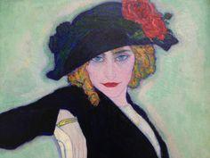 Leo Gestel, 1911, Vrouw met sigaret, privé collectie. Portret van Gestel's toekomstige vrouw Gerritje 'An' Overtoom. Leo Gestel behoorde samen met Mondriaan en Sluijters tot de belangrijkste vernieuwers van de Nederlandse schilderkunst. Hij liet zich o.a. inspireren door het Fauvisme.