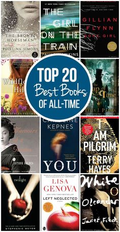 My list of books I simply could NOT put down! My top 20 best books of all-time include a variety of genres and authors.