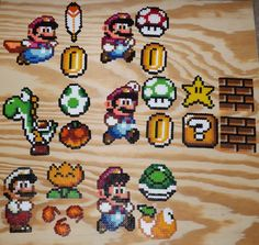 Super Mario World Perler Collection by kamikazekeeg on DeviantArt