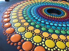 Dot Art Painting, Mandala Painting, Mandala Dots, Mandala Design, Aboriginal Dot Art, Point Paint, Record Art, Zen Art, Shell Art
