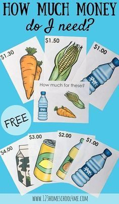 If your kids love playing shop, these FREE priced shopping items and task cards will motivate them to practice math while playing money games! Money Activities with Kids 1st Grade Math, Kindergarten Math, Teaching Math, Math Games Grade 1, Second Grade, Teaching Kids Money, Kindergarten Schedule, 1st Grade Crafts, Grade 2
