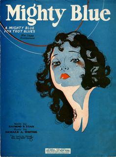 Mighty Blue Vintage Sheet Music Cover Art - Fox Trot Blues