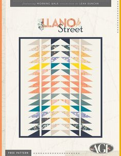 """Llano St."" Free Quilt Pattern"