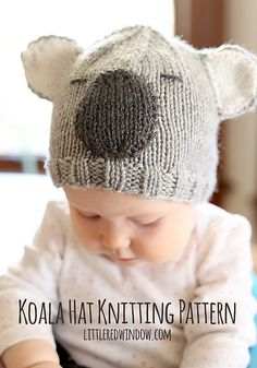 Ravelry: Koala Hat pattern by Cassandra May