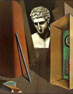 Giorgio De Chirico, Mélancolie hermétique, 1919. 62 × 49,5 cm, Musée d'art moderne, Paris.