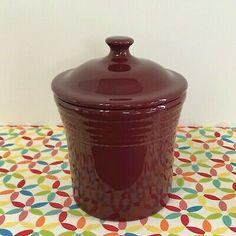 Fiesta@ Dinnerware Cinnabar Jam Jar. Made in America by the Homer Laughlin China Company   eBay