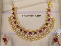 South Sea Pearls Necklace latest jewelry designs - Jewellery Designs