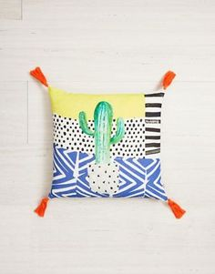 Buy Ian Snow Cactus Print Tassel Cotton Cushion at ASOS. With free delivery and return options (Ts&Cs apply), online shopping has never been so easy. Get the latest trends with ASOS now. Cactus Gifts, Asos, Pillow Inspiration, Presents For Men, Printed Cushions, Cactus Print, Present Gift, Latest Fashion Clothes, Fashion Online