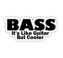 Bass...like a guitar but cooler.
