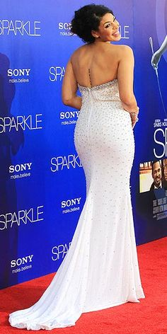 Jordin Sparks gets her moment in the spotlight, wearing a custom Chagoury Couture gown (covered in more than 600 Swarovski crystals!) for the film's Hollywood premiere.