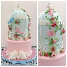 I made this bird cage cake for a baby shower. Not my design.