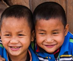 twins at the daily market, Nyaung Shwe, Myanmar