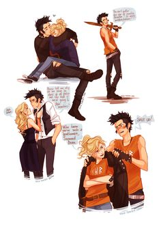 A Percy Jackson AU in which everything is the same except Percy is a punk. don't expect much from me -viria Arte Percy Jackson, Percy Jackson Annabeth Chase, Percy Jackson Ships, Percy And Annabeth, Percy Jackson Memes, Percy Jackson Books, Percy Jackson Fandom, Percabeth, Solangelo