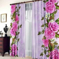 ✅ Beautiful Curtains that will make Your Home Much More Beautiful - Imagine your living room or bedroom with a beautiful curtain. Luxury Curtains, Home Curtains, Window Drapes, Window Panels, Classic Curtains, Elegant Curtains, Beautiful Curtains, Cortina Floral, Flower Curtain