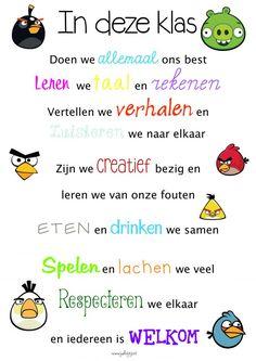 """Posters klas """"In deze klas""""met verschillende thema's - jufbijtje.nl"""