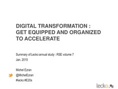 Lecko study - ESN vol 7 - e 2.0 summit 2015 - M Ezran by Michel Ezran via slideshare
