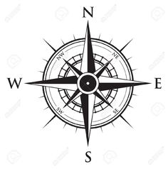 Nautical Wind Rose And Compass Icons Set Lifestyle