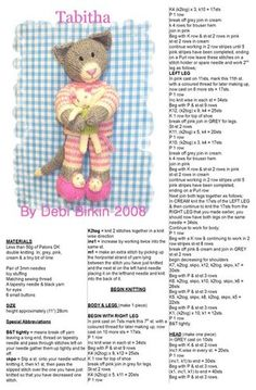 Best 24 of debi birkin margot mouse http com collection en library album view Knitted Dolls Free, Knitted Doll Patterns, Animal Knitting Patterns, Knitted Cat, Knitted Animals, Crochet Patterns Amigurumi, Stuffed Animal Patterns, Crochet Dolls, Little Cotton Rabbits