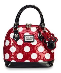 Look what I found on #zulily! Red Polka Dot Minnie Mouse Mini Embossed Bag by Minnie Mouse #zulilyfinds