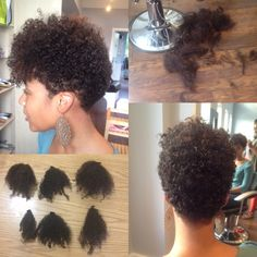 I cut my hair today! And donated it to charity! Naturally curly tapered short cut or twa with a bang!! I'm so in love