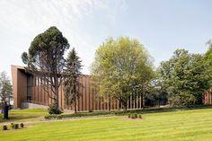 MX_SI extends finland's serlachius museum with timber-clad pavilion - designboom   architecture