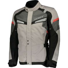 ΜΠΟΥΦΑΝ SCOTT : Μπουφάν Scott Storm DP Light Grey/Red Motorcycle Accessories, Scrambler, Motorcycle Jacket, Men's Fashion, Gloves, Grey, Jackets, Men, Clothes