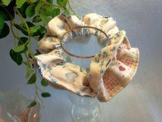 "Japanese hand kawaii shushu / Reversible and Frilled Scrunchy / Scrunchie - 3.9"" (10cm) / #42 by YuminaCafe, ¥500"