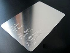 100pcs Bump Pierced Metal Card Customized Business VIP Nameplate Card | eBay