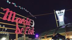 """My first time going to """"Marché de l'est"""" the other night. Food trucks galore! · #montreal #montrealolympicstadium #parcolympique #marchédelest #night #foodtruck #poutine #samsungs4 ·"""