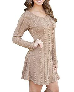 HAPEE Women's Crewneck Knitted Long Sleeve Sweater Dress,... https://www.amazon.com/dp/B01JRECBQU/ref=cm_sw_r_pi_dp_x_fGYmyb9T91N5V