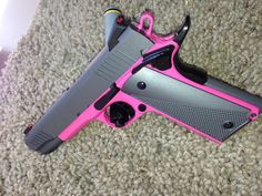 Cerakote Coatings: H-224 Sig Pink with H-227 Tactical Grey