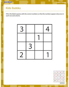 math worksheet : sudoku for kids  free critical thinking worksheet for kids  : Critical Thinking Math Worksheets