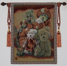 6 Boyds Bears Bear Wall Hanging Tapestry