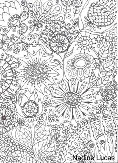 Flickr. Nadine Lucas. Free to print to color/Inspiration. She also has beautiful mandalas.