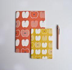 Vintage inspired apple notebooks. Start the semester right. :)