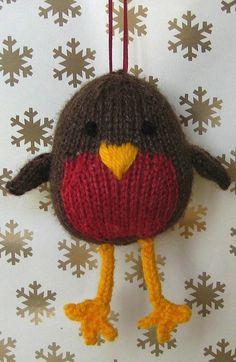 Jolly robin Christmas knitting pattern