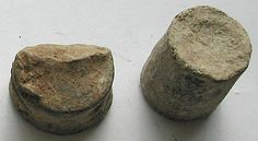 Clod shot of typical cylindrical form