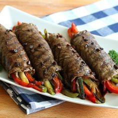 These grilled balsamic glazed steak rolls are stuffed with sauteed vegetables and drizzled with a glaze that is simply out of this world delicious! Meat Recipes, Paleo Recipes, Cooking Recipes, Grilling Recipes, Sizzle Steak Recipes, Grilling Ideas, Barbecue Recipes, Sauce Recipes, Lunch Recipes
